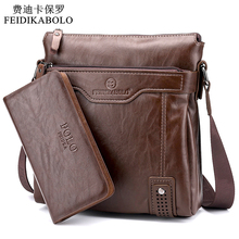 2015 New Arrival Hot Selling business casual leather man bag Fashion brown handbags and purses Casual men Messenger bag Wallets(China)