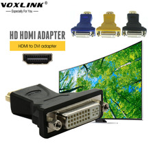 VOXLINK HDMI to DVI Converter Adapter 24+5 male to female 1080P HDTV adapter for PC PS3 Projector 3 Colors(China)