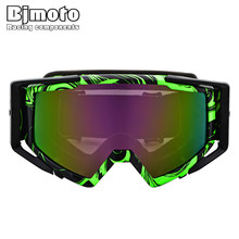 BJMOTO Motocross Goggles Cross Country Skis Snowboard ATV Mask Oculos Gafas Motorcycle Helmet MX Goggle Spectacles Dirt Bike