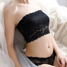 2017 Hot Useful Sexy Women Strapless Seamless Padded Bra Cosy Girls Soft Crop Top Bra Lace Casual Crop Bra Lingerie G6