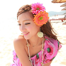 Individuality 10pcs/set Artificial Freesia Silk Flower Heads for Photography Wedding Festival Decoration