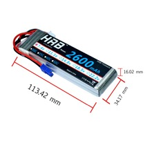 HRB RC Lipo Battery 7.4V 2600mah 30C Max 60C For Hubsan H501S Wltoys V262 V333 RC Airplane Quadcopter(China)
