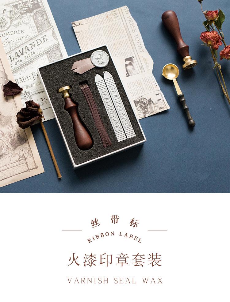 Wood Handle Paint Seal Retro À faire soi-même Envelope Wax Seal Stamp Wedding Post DECOR//NEUF