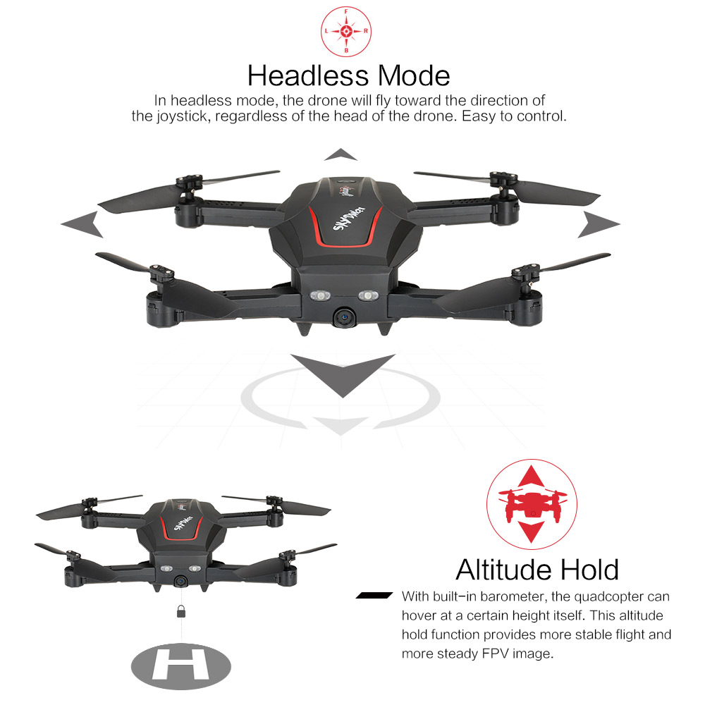WL Tech Q626-B Wi-Fi FPV 720P RC Drone with Camera HD Selfie Drone Altitude Hold RC Quadcopter RTF Helicopter Dron Machine (17)