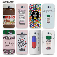 BiNFUL funny Chills Pills Chocolate design hard White Phone Case Cover for Samsung Galaxy A7 2017 A3 A5 2016 A7 A8(China)