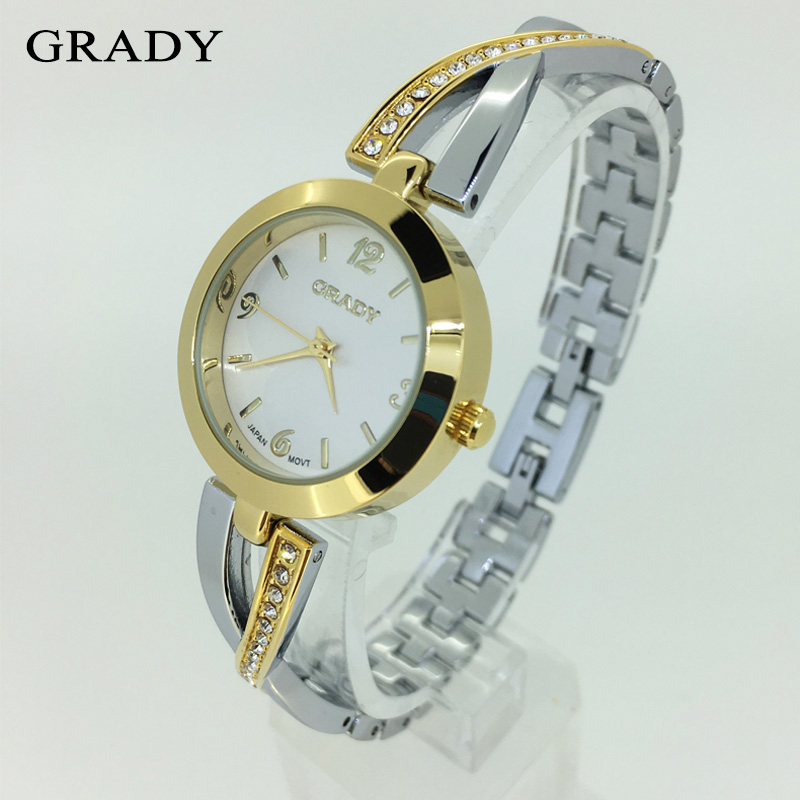 GRADY clock ladies belt watches quartz top brand luxury shockproof waterproof watches women fashion gold watch bracelet 2017 <br><br>Aliexpress