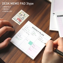 Desk memo pad Work Plan Memo To-do list checklist Week Scheduler Weekly plan Planning Office Cute Stationery Planner Stickers