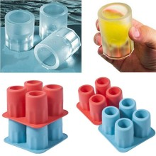Hot New ONLY Bar Party Drink Ice Tray Cool Shape Ice Cube Freeze Mold Ice Maker Mould You can eat a cup 4-Cup Ice mold cup(China)