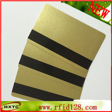 200PCS/Lot Magnetic Stripe Gold card PVC blank Card (Hi-Co 2750, 3000 ,4000 OE) for Magnetic Stripe reader wrater(China)