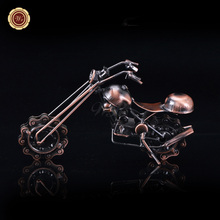 WR Copper Car Big Size Motorcycle Decoration Desk Decoration Motorbike for Boyfriend's Souvenirs Unique Holiday Ornaments