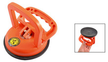 "Orange Plastic Handle 5.8"" Diameter Glass Suction Cup Plate"