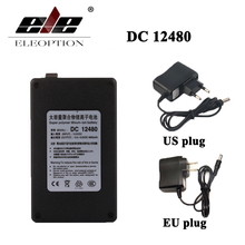 ELEOPTION Black DC 12V 4800mAh DC 12480 Rechargeable Portable Li-ion Battery for CCTV Camera Transmitter(China)