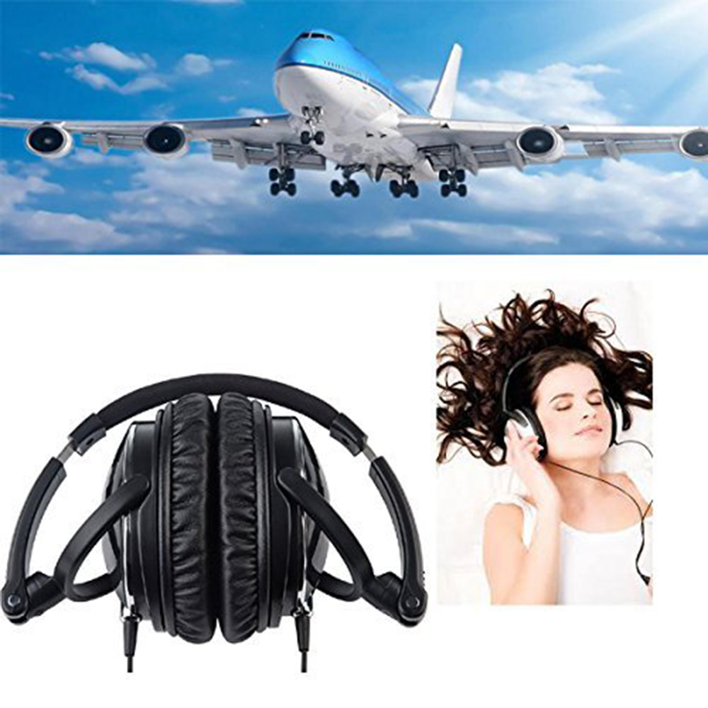 OKCSC HIFI Stereo Airline Aviation Headset Active Noise Canceling Headphones for Computer Cell Phone Mobile Phone with Mic