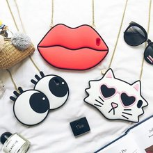 Buy 3D cute Cartoon Big face Lips Eye soft Silicone Back Cover Case iPhone 6 6S Plus 4.7 5.5 inch chain for $4.60 in AliExpress store