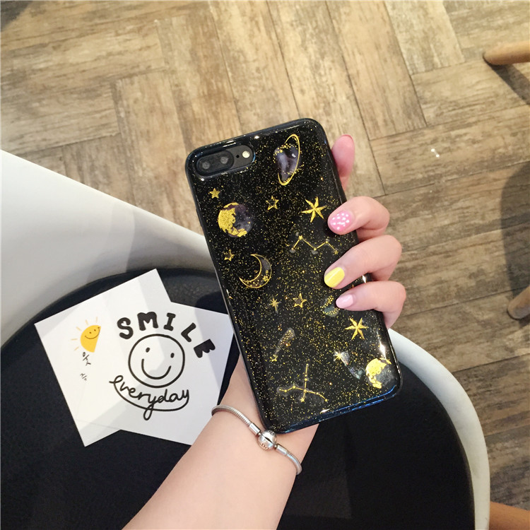 Star And Moon Glitter - Clear Transparent Case - Photo 5