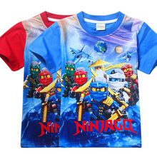 2017 Summer Children's Clothing Baby Boys Girls T-shirt Ninja Ninjago Cartoon Cotton T-shirt Kids Tops Tees T Shirts 3-8y