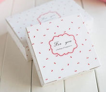 100pcs/lot Free shipping small cherry decoration cake box donuts dessert biscuit package boxes bakery gift packing