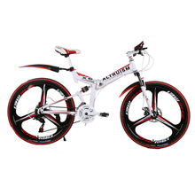 Altruism X6 24 Speed 26 Inch Aluminum Mountain Bike Disc Adult folding two-disc brakes Rear Suspension Bicycle(China)