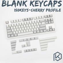 kprepublic 150keys cherry profile pbt whitegrey blank keycaps custom mechanical keyboards gh60 xd64 xd84 rs96 zz96 poker2 87 104(China)