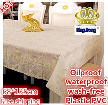 Custom tablecloth plastic PVC table cloth 68*135cm Table Cover Oilproof waterproof European rural style Home decoration new 2015