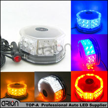 Free Shipping 32 LED 32W Car High Power Magnetic Roof Flashing Strobe Emergency Light Police Warning light white amber red bule(China)