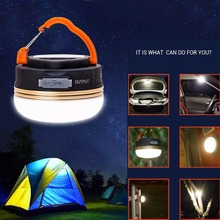Outdoor USB Rechargeable LED Camping Lantern Ultra Bright Hiking Tent Light Factory Price 5 modes(China)