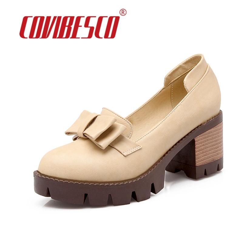 Retro Brands Round Toe High Seels Women Shoes High Platroms Women Pumps Black Gray Beige Vintage Big Bowtie Party Shoes Big Size<br><br>Aliexpress