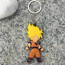 15Pcs/Lot Eevee PVC Keychain Figurines Dragon Ball Z Dragonball Figure Son Goku Super Saiyan Dbz Toys Budokai Tenkaichi 3
