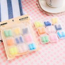 9Pairs Colorful Soft Foam Ear Plugs Travel Sleep Noise Prevention Earplugs Noise Reduction For Travel Sleeping Health Single box