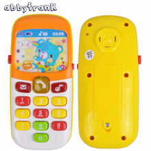 Toy Phone Electronic Bear Musical Baby Sound Mobile Children Phone for Kid Toy Mini Cute Telephone Early Education Cartoon