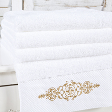 High Quality White Embroidered Oversized Beach Bath Towels For Adults Golf Bathroom Bath Sheets Gift Shower Turkish Towel(China)