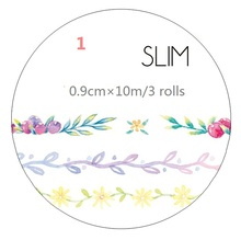 NEW ARRIVAL Flower/Leaves Fresh Washi Paper Tape Design Tape Decorative Adhesive Tape Scrapbook Sticker