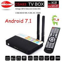 Buy 3GB 32GB Android 7.1 smart TV Box Amlogic S912 Octa Core CSA93 Streaming Smart Media Player Wifi BT4.0 4K set TV box PK H96 PRO for $56.64 in AliExpress store