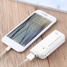 Brand New Portable USB Charger AA External Battery Emergency For MP3 Player for iPod for iPhone1pc for xiaomi for redmi white(China)