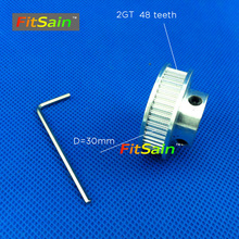 FitSain-2GT 48 teeth aluminum alloy pulley reduction ratio drive synchronous wheel center hole 5mm 8mm 10mm(China)