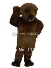mascot Dark Brown Otter Mascot Costume Cartoon Character carnival costume fancy Costume party