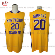 AIFEIYIYI Mens Cheap Throwback Basketball Jersey Ben Simmons 20 Montverde Academy Eagles Jerseys Yellow Stitched Retro Shirts(China)