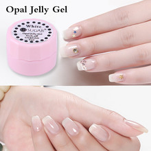 UR SUGAR 5ml Opal Jelly Gel Lacquer Semi-transparent White Soak Off UV Gel Polish Paint Gel Manicure Nail Art UV LED Varnish