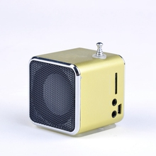 Promotion Price Unique TD-V26 Micro SD TF USB Mini Speaker MP3 Music Player Portable FM Radio Stereo For PC Laptop 5 colors