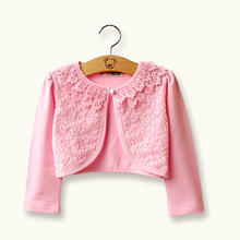 RL Girls Outerwear Kids Cardigan Cotton Spandex Pink Sweater Girls Jacket 2017 Girls Clothes for 1 2 3 4 6 8 10 12 Years Old