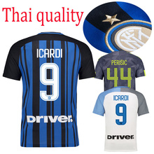 HOT SALES 2017 BEST QUALITY ADULT KIT INTER MILANES SOCCER JERSEY 17 18 HOME RED AWAY GRAY MEN SHIRT FREE SHIPPING(China)