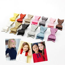 Hot New Magazine Design Korean Glitter Bow Girls Haipins Side Clips Barrettes Children Kids Hair Accessories(China)