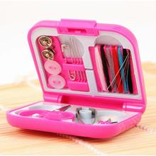 Plastic containers Portable Travel Sewing Kits Needle Threads Box Thimble Threads Home Tools Home Decoration Storage Box case(China)