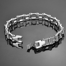 Punk Biker Bicycle Motorcycle Link Chain Bracelet For Women Men Jewelry Fashion Stainless Steel Bracelets & Bangles(China)