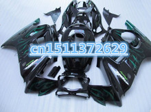 Bo High quality green flame black for CBR600F3 97-98 CBR600 F3 CBR 600RR 97 98 ABS fairing kit(China)
