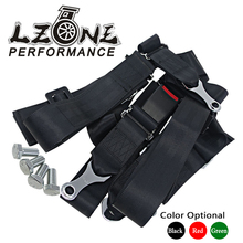 LZONE RACING - RACING GREEN DRIFT II 2'' SEAT BELT SHOULDER BOLT ON 4 POINT SAFETY BELT HARNESS JR-SB32(China)