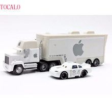Pixar Cars 2pcs/Lot Apple Mack Uncle Truck And 84 Apple Small Car 1:55 Diecast Metal Alloy Modle Toys Car Gift For Kids(China)