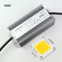 High Power 10W 20W 30W 50W 100W Led lamp Chips With Led Power Supply For Led Flood light DIY In W WW Lighting 1Set