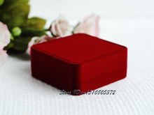 High-End 8pcs x Red Velvet Bracelet Box Gift Jewelry Packaging Boxes Ankle Storage Boxes Jewellry Case