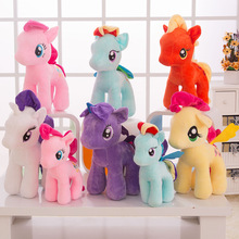 22CM My cute Lovely Little Horse Plush Toys PP Cotton High Quality Poni Doll Toys for Children Colorful Rainbow Horse(China)